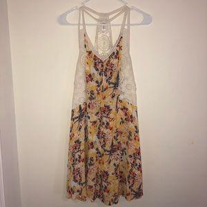 Xhiliration Floral Dress Size Medium Racerback